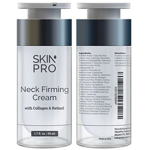 skin pro neck firming cream with collagen and retinol